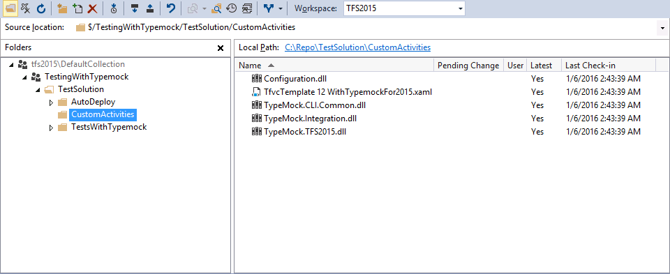 Step 1: Adding Typemock task and Template to the Source Control