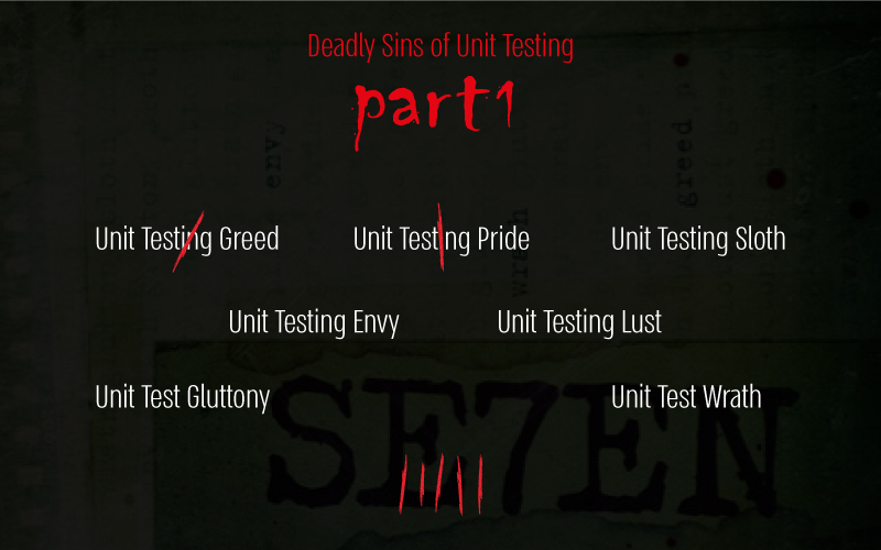 Deadly Sin Unit Test, Unit Testing,